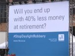 #StopDaylightRobbery campaign brings transparency (and chainsaws) to financial services