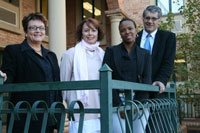 The USB-ED team in the new Gauteng office are (from left) Carina Loubser, marketing consultant, Belinda Knight, director: business development, Amanda Kulati, personal assistant, and Dr Bernie van Zijl, director: business development.