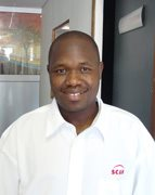 Scan Display Botswana's Sales Manager, Zaid Ramina. - Scan Display