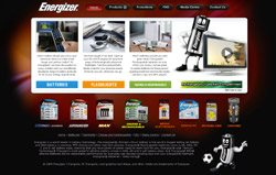 Firewater Interactive recharges Energizer website