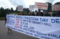 Malawi journalists march in Mzuzu as part of celebration