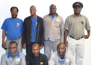 (Back row from left to right) Muzi Zungu, Fortune Masinge, Moses Sandleni, Solly Hlungwani. (Front row from left to right) Eric Mncwangi, Clifford Zimba, Victor HlungwaniAbsent: J. Dani, C. Mgengezania, D. Langa, S, Nkuna, M. Nsibanyoni, George Mhlongo, Jackson Magweza, Solly Kheswa, Sifiso Mbhele, Shadrack Shibambu.
