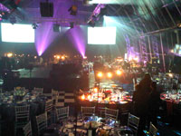 The interior of the Zip Zap Circus all set up for the 2010 PICA Awards. Pic: Simone Puterman.