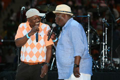 Menzi Ngubane, Sibusiso Dlomo in Generations (left) and MC Kenneth Nkosi (right)