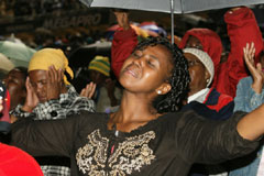Party, praise and prayer welcomes 2011 at the FNB Stadium