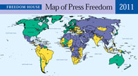 Decline in press freedom experienced in key countries - report