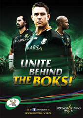 SARU and 34 Sport unites the nation behind the Boks!