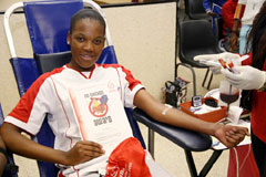 Youth lead by example giving the gift of life