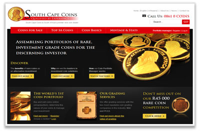 South Cape Coins - a 360° web solution