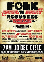 Top SA artists at The Cape Town Folk and Acoustic Music Festival