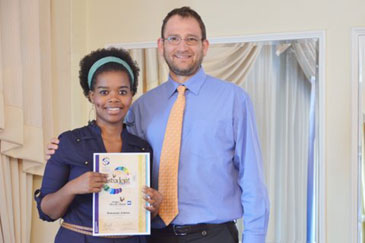 Nokwanda Lehana, packaging and technology student from the Institute of Packaging South Africa (IPSA) with her Gold Pack Award, and Jan Wegelin, Research Manager from BMi Research. Nokwanda was awarded IPSA's Student Gold Pack Award for excellent research in the packaging category. BMi Research, one of South Africa's leading research houses, sponsored the award, which included a R500 cash prize. The Student Gold Pack awards took place at the Inanda Club in Sandton on 13 October 2011.
