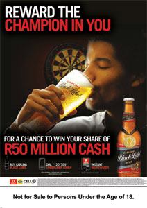 34 partners with Vodacom m-pesa to reward Carling Black Label consumers