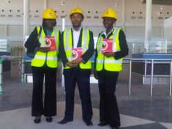 The Alliance Media Botswana team at the newly constructed airport - Alliance Media