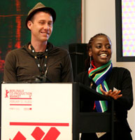 L to R: James Tayler and Sarah Muhoho