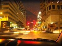 Arriving in Austin at Night. Pic: Karin Botta.