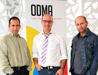 The ODMA team L-R: Rob Hill, Dave Duarte and Gavin Levinsohn.