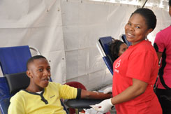 UCKG members give the gift of life as part of their preparation for the Easter celebration