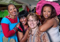 Zookey, Mpume Mthombeni, Clinton Marius and Loretta Green. Image by Val Adamson