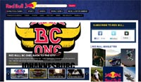 Content and social media in harmony on the Red Bull website.