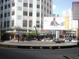 African inner city rejuvenation begins with traffic circles