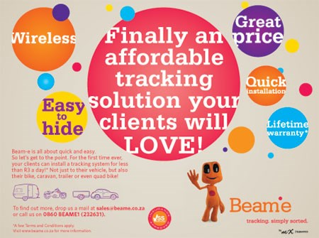 34 and Beam-e launch a likeable face in the vehicle tracking industry