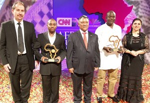 L to R: Multichoice Africa CEO, Nico Meyer; Tom Mboya, Citizen TV-Kenya; Zambian Foreign Affairs Minister, Given Lubinda; Evanson Nyaga, Citizen TV-Kenya and senior vice president for CNN Worldwide, Parisa Khosravi.