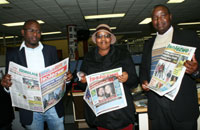 Sandile Mdadane Isolezwe weekend editor, Slindile Khanyile Isolezwe deputy editor and Sazi Hadebe Isolezwe editor - Independent Media
