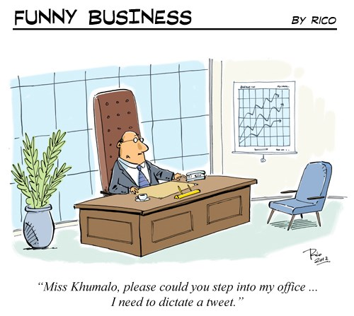 [Funny Business] Executive tweeting