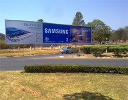 Zambia's largest free-standing billboard installed by Alliance Media