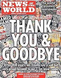 The phone hacking scandal led to the closure of The News of The World. (Image: Wikipedia)