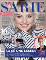 Sarie's November issue features cover girl winner, Tana Ferreira