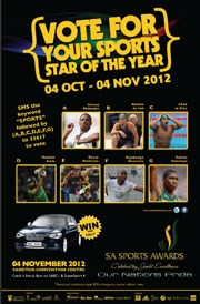 Call to vote for the Sports Star of the Year for 2012