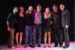 Team Gloo collecting Gold on stage at Loeries 2012