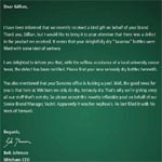 Letter to Gillian Skinner.