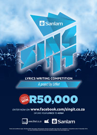 Call to enter Sing 'it for the chance to win R50 000