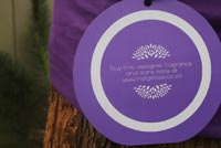 Indigo Tree launch sees jacaranda trees swathed in scented ribbons