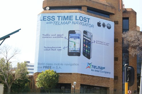 Telmap chooses Guerrilla's reach and impact Sandton mini-package to launch in SA