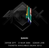 Skrillex to perorm in SA