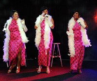 Singing sensations, 'The Supremes', keep guests entertained at The Hamlet annual banquet.