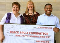 Black Eagle Project gets R95,000 from Silverstar Casino