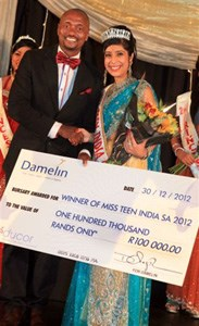 Damelin sponsors R140 000 worth of bursaries at Miss Teen India SA