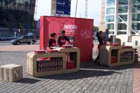 Outdoor activation introduces Nescafé to Gautrain passengers