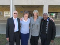 Herby Rosenberg, executive deputy chairman at Afrika Tikkun; Robyn Farrell, managing director of 1st for Women Insurance; Zelda la Grange, patron of the 1st for Women Insurance Trust and Sipho Phanuel Mamize, general manager of Afrika Tikkun Diepsloot.