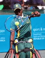 Wheelchair tennis star Kgothatso Montjane made her debut in the invitation-only Australian Open wheelchair championship, becoming the first African to do so. (Image: )