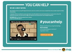 Some views on the FNB 'You Can Help' campaign