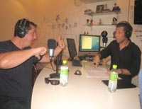 Brett St Clair and Warren Harding in studio.