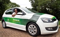 Green cars, green trees encourage car rental clients