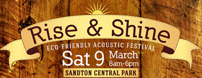 Eco-friendly acoustic music festival for Joburg