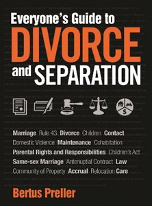 Cape Town Attorney Bertus Preller writes SA's first book on Divorce and Separation for the public