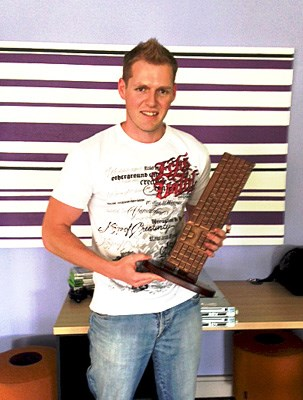 Pictured at the trophy presentation: Richard Mackenzie from Kagiso Digital